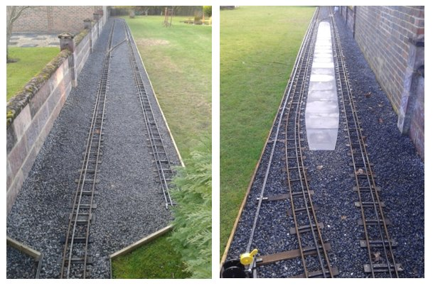 a spot of track laying